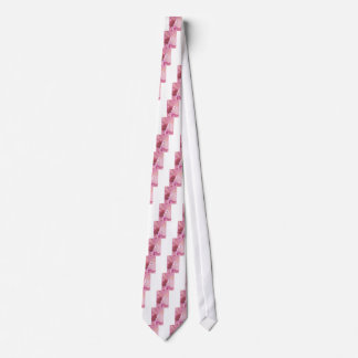 Butterflies Animals  Missing You  pink spring Neck Tie