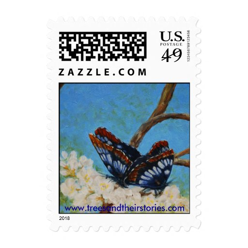 Butterflies & Apple Blossoms Stamps