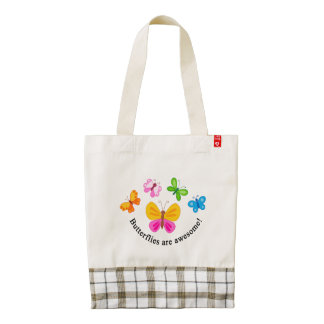 Butterflies are awesome zazzle HEART tote bag