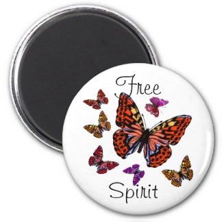 Butterflies are Beautiful 2 Inch Round Magnet