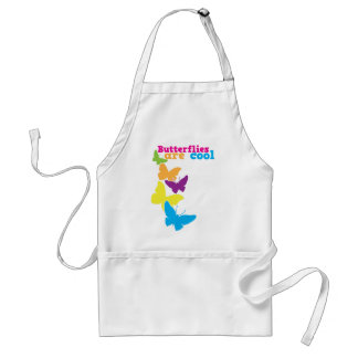 butterflies are cool adult apron