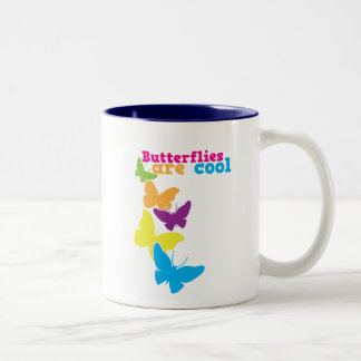 butterflies are cool Two-Tone coffee mug