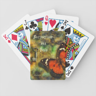 Butterflies are Free Bicycle Playing Cards