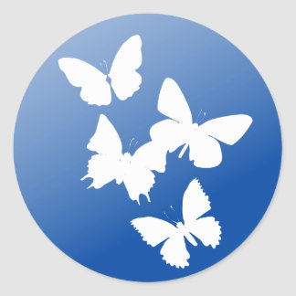 Butterflies are free classic round sticker