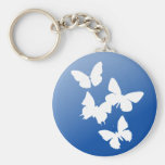 Butterflies are free key chain