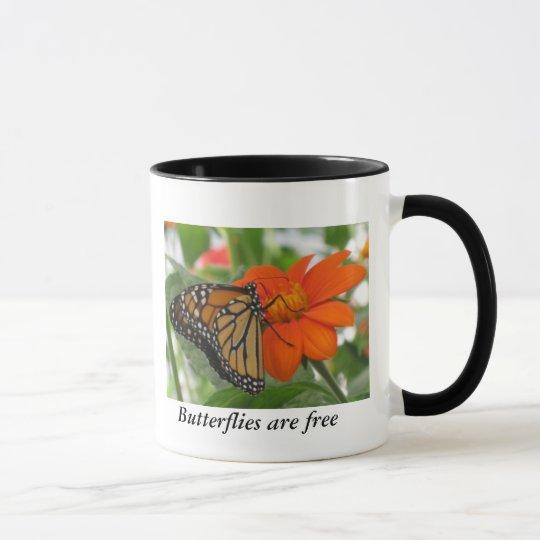 Butterflies are free mug