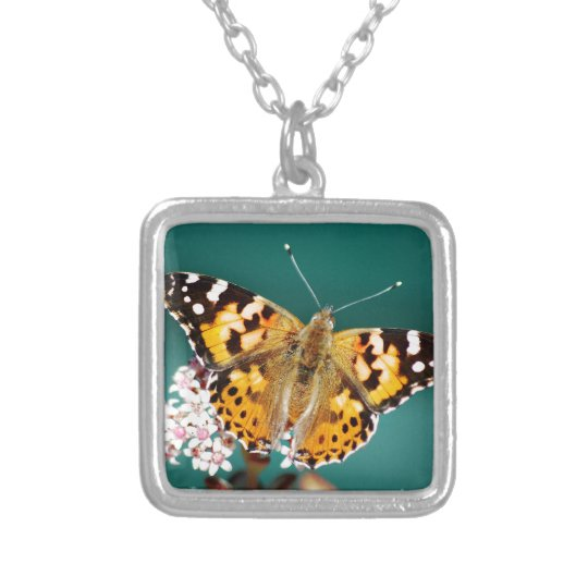 Butterflies are free silver plated necklace