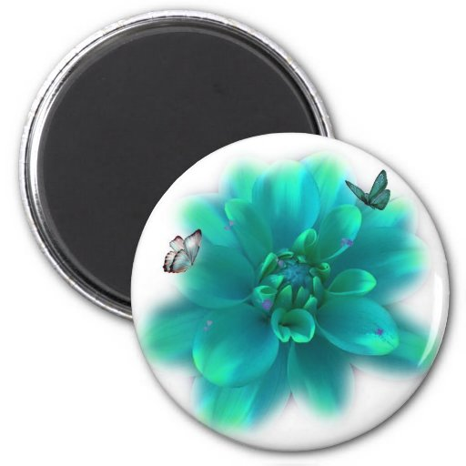 BUTTERFLIES ARE FREE TO FLY! 2 INCH ROUND MAGNET