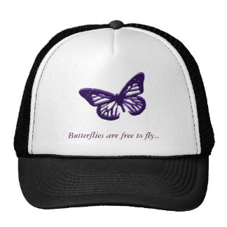 Butterflies Are Free To Fly Mesh Hats