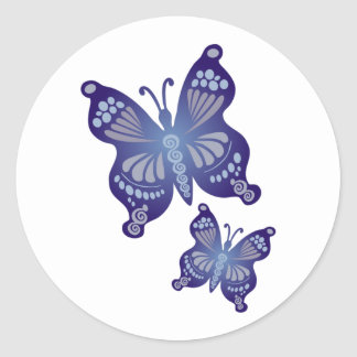 Butterflies are free to fly ... sticker