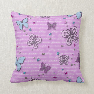 Butterflies are Free to Fly Throw PIllow