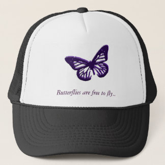 Butterflies Are Free To Fly Trucker Hat