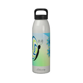 Butterflies Are Groovy Reusable Water Bottle