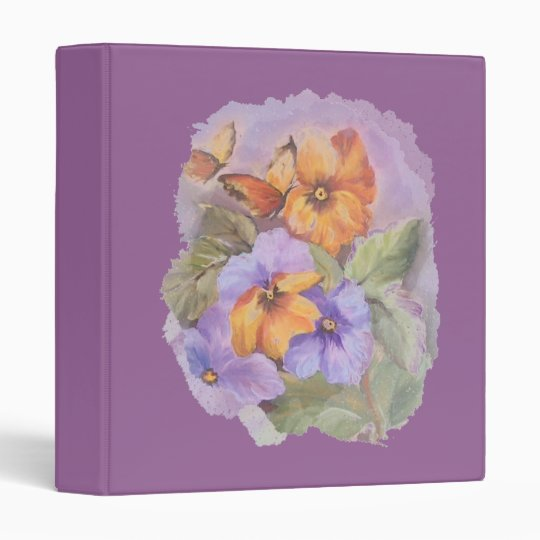 Butterflies art binder