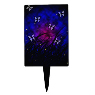 Butterflies at Night Cake Toppers
