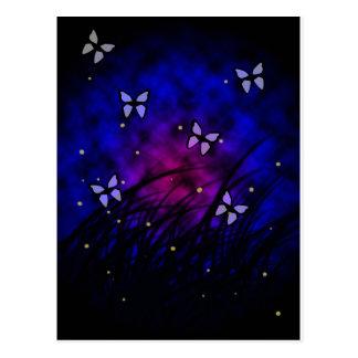 Butterflies at Night Postcard