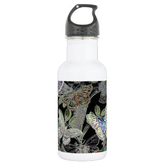 Butterflies at Night Stainless Steel Water Bottle