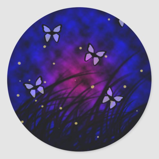 Butterflies at night sticker