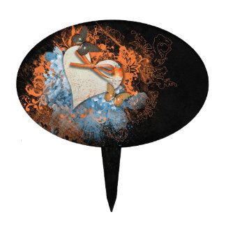 Butterflies at Samhain Handfasting Cake Decoration Cake Topper
