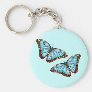 Butterflies Basic Round Button Keychain