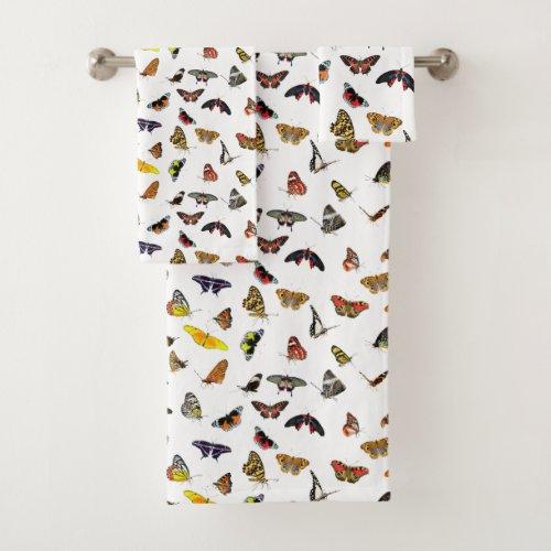 Butterflies Bathroom Towel Set