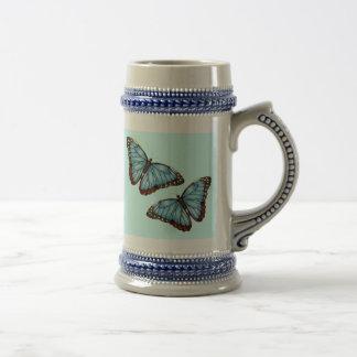 Butterflies Beer Stein