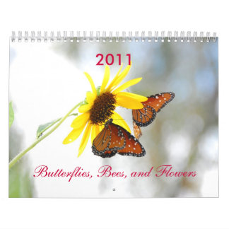 Butterflies, Bees, and Flowers Calendar