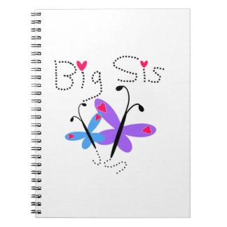 Butterflies Big Sis Gifts Spiral Notebooks