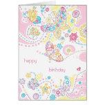 Butterflies Birthday Card