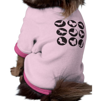 Butterflies Black and White Pet Clothing