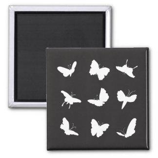 Butterflies Black and White Fridge Magnet
