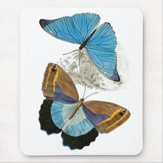 Butterflies - Blue Mouse Pad
