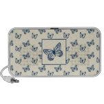 Butterflies Blue Notebook Speakers