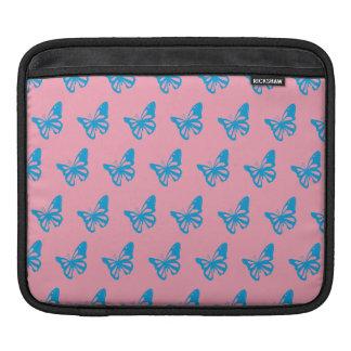 Butterflies blue pink.ai iPad sleeves