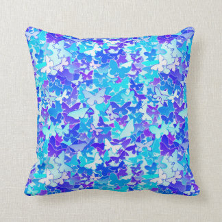 Blue And Lavender Throw Pillows : Turquoise Butterfly Pillows - Decorative & Throw Pillows Zazzle