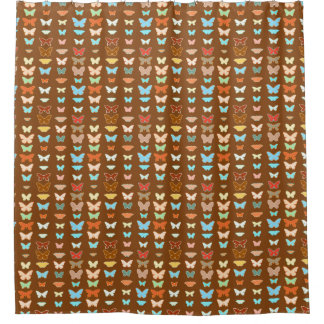 Butterflies  brown  turquoise and coral shower curtainBrown And Turquoise Shower Curtains   Zazzle. Brown And Turquoise Shower Curtain. Home Design Ideas