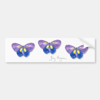 Butterflies Bumper Sticker Car Bumper Sticker