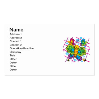 Butterflies Business Card Template