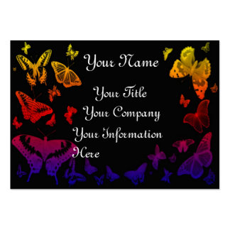Butterflies business profile cardtemplate business card template