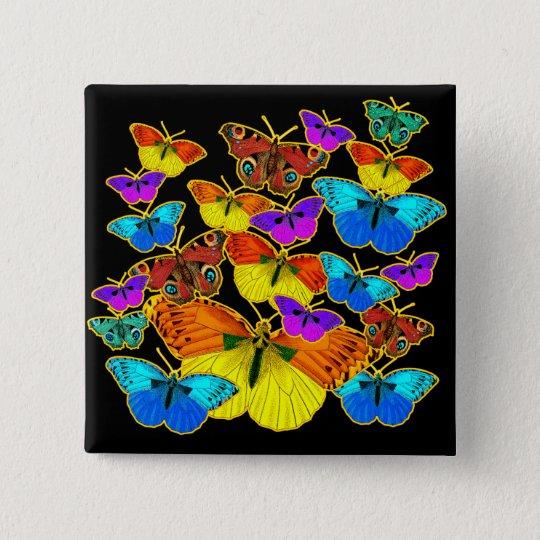 Butterflies! Butterflies!  Button
