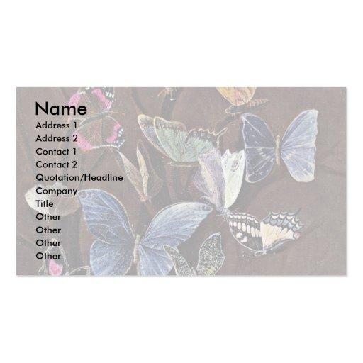 Butterflies By Kaulbach Wilhelm Von (Best Quality) Business Card Template