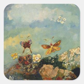 Butterflies by Odilon Redon Stickers