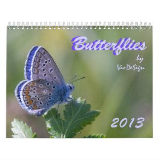 Butterflies calendar