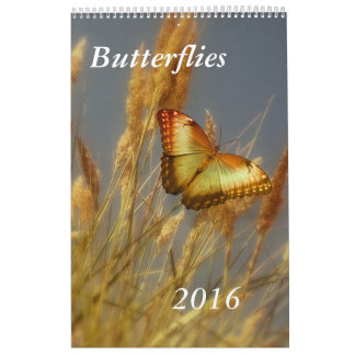 Butterflies Calendar Customizable Single Page