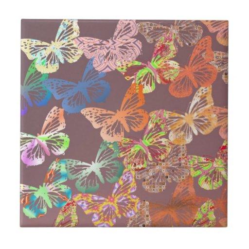 Butterflies Ceramic Tile