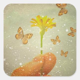 Butterflies Charmer Square Sticker