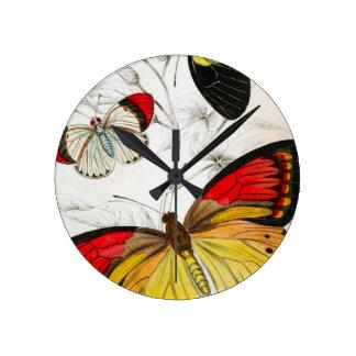 Butterflies Round Wallclocks