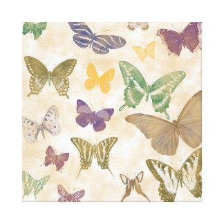 Butterflies Collage Canvas Print