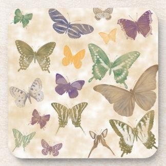 Butterflies Collage Drink Coaster