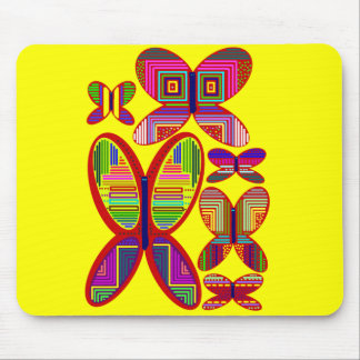 Butterflies  Colorful Patterns Mousepad